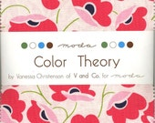 Color Theory Charm Pack from Moda, Set of 42 5-inch Precut Cotton Fabric Squares (10830PP)