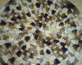 4 Round Crochet Country Place Mats
