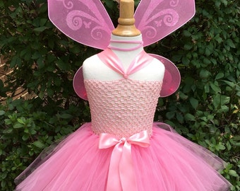 Pink Fairy Tutu Dress, Pink Fairy Tutu, Pink Fairy Wings, Pixie Fairy Wings, Pink Pixie Fairy Tutu Dress & Wings by My Precious Tutu