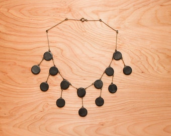 Minimal Geometric Bib Necklace