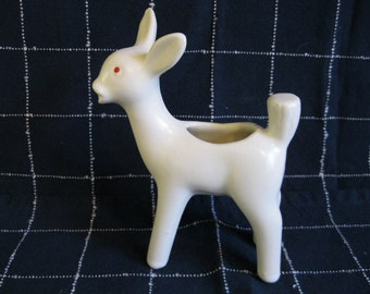 Brush-McCoy White Deer Planter, Figurine
