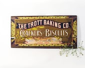 Vintage Sign, Home Decor, Kitchen Wall Hanging, Crackers Biscuits