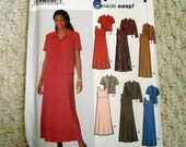 Women's Jacket and Pullover A-Line Dress Pattern in Larger Sizes, Simplicity No. 9890 Uncut, factory folded