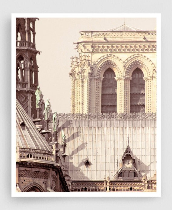Items similar to paris photography notre dame east for Notre dame home decor