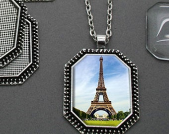 Octagonal Photo Necklace