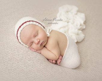 Newborn Pixie Bonnet | Photo Prop - Eco-Alpaca