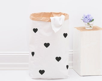 Paper bag / heart / black