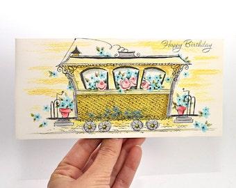 Vintage Birthday Card, Unused, Happy Birthday, Birthday Card for Her, Girl Birthday Card, Vintage Greeting Cards, Stationary