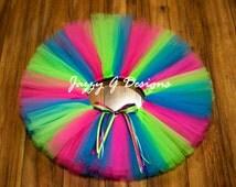 Neon Candy Tutu - Neon Tutu-Neon Run Tutu-Adult Neon Tutu-Kids Neon Tutu