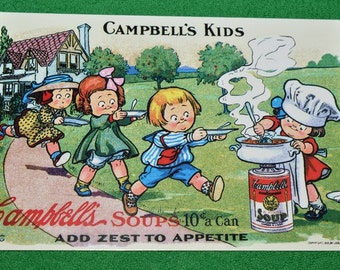 Post Card Campbell Kids Soups 1996 USA