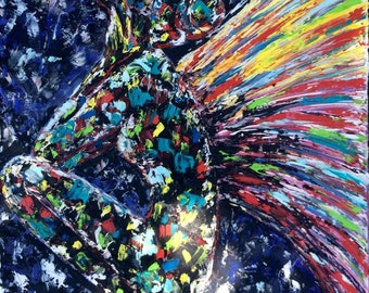 Sad angel palette knife tecture