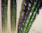 Halloween Synthetic Dreads - Accent - Spiderweb - 5 DE - Long Length - Thin - Premade - Bumpy Twisted