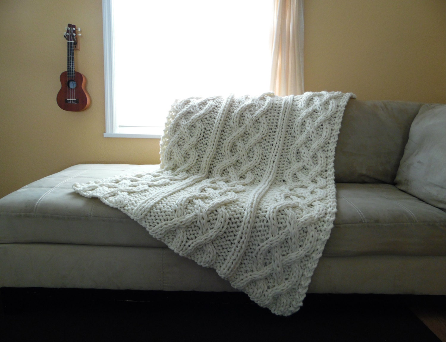 Cable Knit Blanket Made To Order