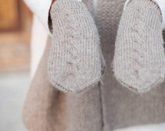 Alpaca Wool Mittens | Warm Winter Mittens | Women's Mittens | Wool Mittens | Beige Alpaca Mittens | Woolen Mittens | Winter Alpaca Gloves