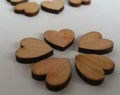 Pack of 5 mini wooden hearts, beech wooden hearts, 1.5cm, wood, wooden, beech, jewellery supplies, crafting supplies
