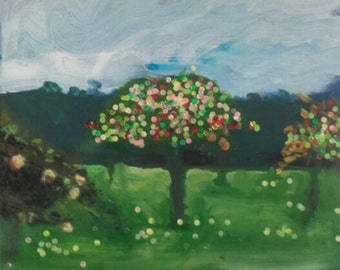 Apple trees in October