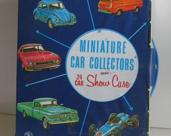 1966 Mattel Cars Miniature Car Collectors Showcase 24 car Travel Case Hot Wheel Car Carrying Case Matchbox Cars Case