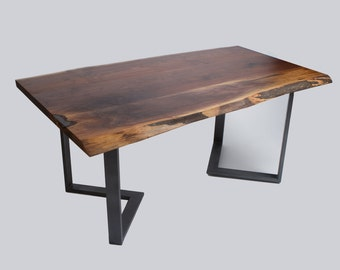 Salvaged Live Edge Walnut Dining Table