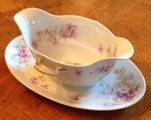 Haviland (Theodore) Limoges France - Gravy Boat Serving Bowl With Handles