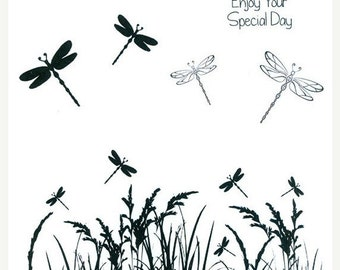 ON SALE Sentimentally Yours Dragonfly Meadow Collection Stamp Collection