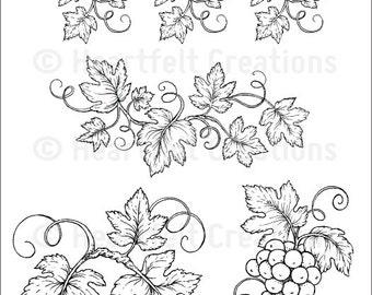 Heartfelt Creations Italiana Grapevines Stamp Set - Italiana Riviera Collection