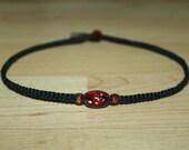 Tween Girl Gifts for Girls Necklace - Black Hemp Choker Necklace Coral Pink Glass Beads - Tween Jewelry for Girls Teen Girl Necklace for Her