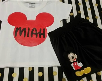 Mickey outfit, birthday, custom name, boys , all ages