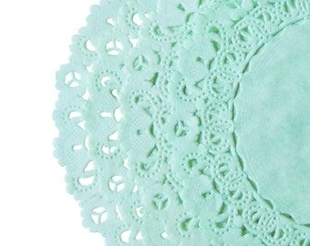 """MINT GREEN Paper Lace  Doilies 