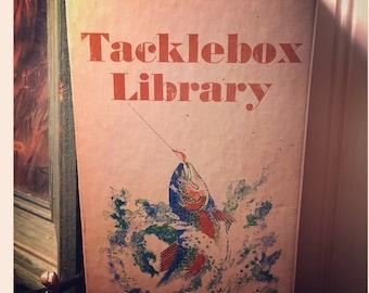 Vintage fishing book tacklebox  Library