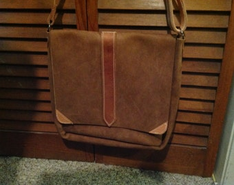 CUstom Brown Messenger Bag