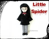 Living Dead Doll Clothes - Spider Arachnid Goth Dress & Leggings - Handmade Fashion by dolls4emma