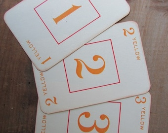 Wedding Table Numbers Vintage Rook Cards Numbers 1 Through 14
