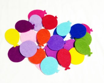 12 Pieces 6 couple of Thick Felt Ballons - Two different cut