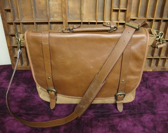Large Leather Full Flap Messenger Bag