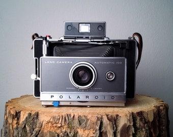 Vintage Polaroid Automatic 100 Land Camera 100 Series Film Polaroid Instant Camera Polaroid Rangefinder Camera Timer Flash