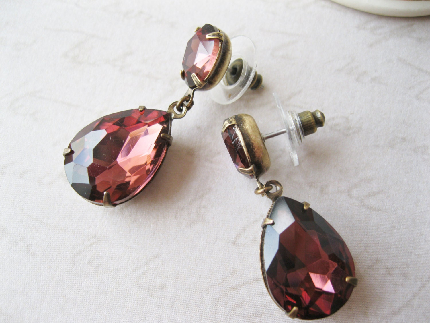 wine earrings burgundy wedding jewelry by dellabellaboutique