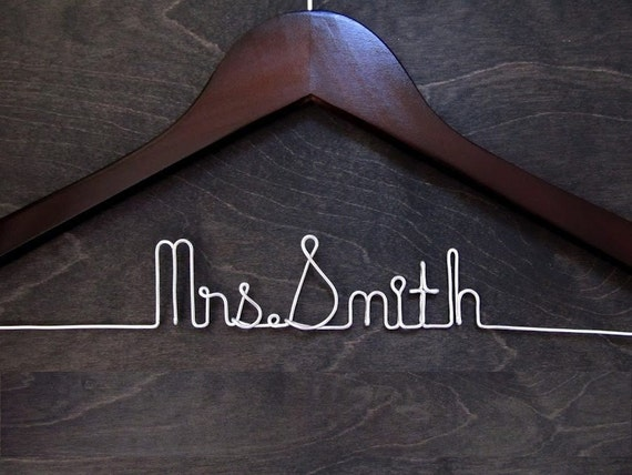 SALE, Bridal Hangar, Wedding Hanger, Personalized Bridal Hanger, Personalized Wedding Gift, Shower Gift, Wire Hanger, Custom Hanger