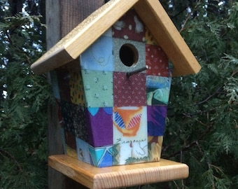 Custom Quilt Birdhouse