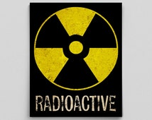 Science Radioactive Nuclear Print Fallout Shelter Poster Teacher Gifts for Teachers Science Art Radioactive Poster Dorm Decor Boys Room Idea