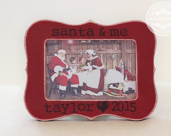 Santa Christmas Picture Frame Personalized GIFT for Santa Photo Display First Christmas with Santa