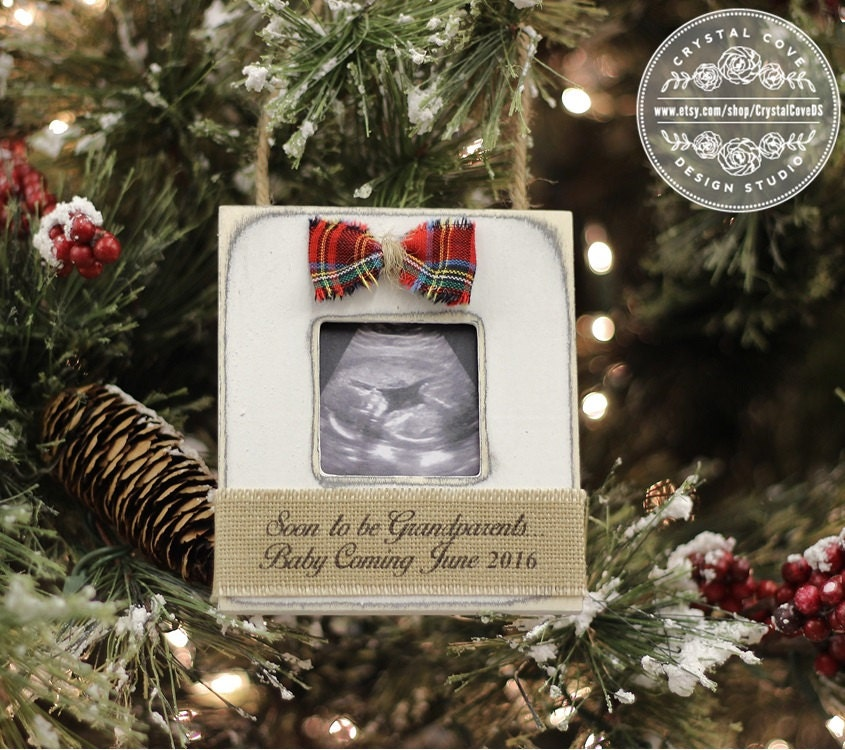 christmas ornament expecting pregnancy announcement for