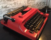 Remington Vintage Orange Foregin Typewriter