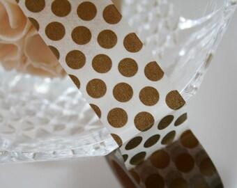 Gold Polka Dot Washi Tape(30mm)