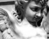 Gabriel - Original Fine Art Photograph (angel, cherub, black and white, religious, inspirational)