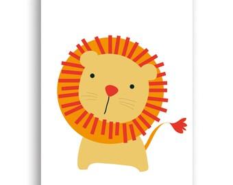 Instant Download PDF file Nursery Decor, Nursery Art Print, Nursery Wall Art, Playroom Decor,  Lion Print