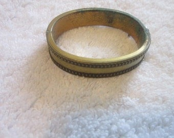 C 1900 Antique Victorian Gold Filled ? Bangle Bracelet
