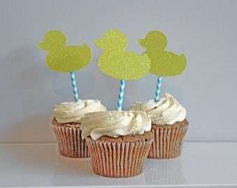 Little Duckling Baby Shower Cupcake Toppers