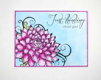 Thinking Of You Card, Greeting Card, Just Because Card Handmade Card Blank Card