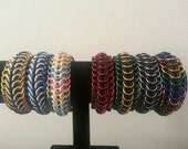 Stretchy Chainmail Bracelet - Dragon Back - Waterproof