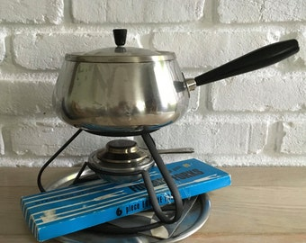 Stainless Fondue Set with 6 Fondue Forks